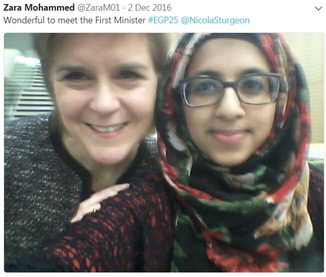 Zara Mohammed Nicola Sturgeon