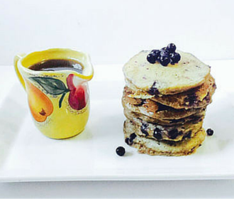 Blueberry Butter Milk Pancakes
