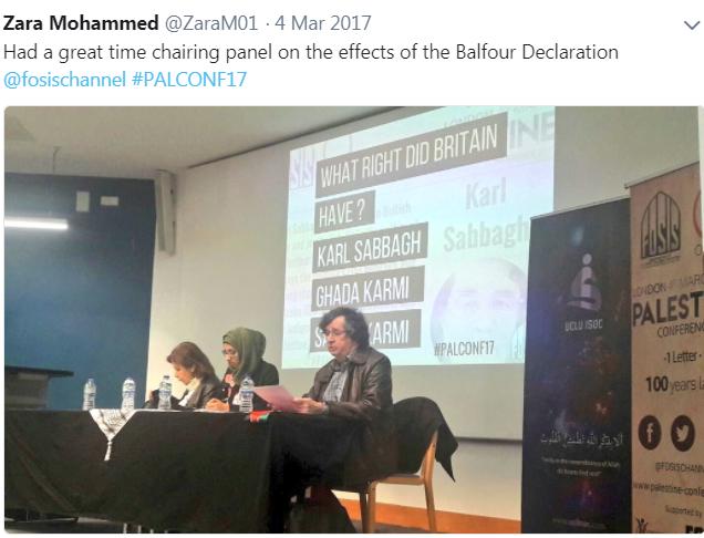 Zara Mohammed fosis panel
