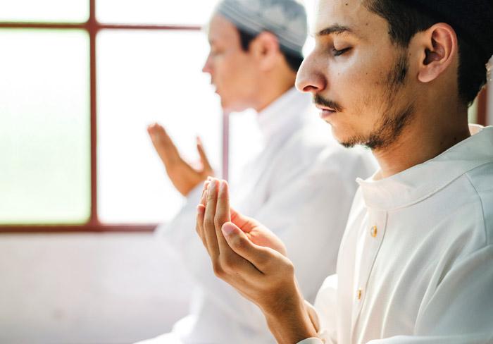muslim men making du'a to Allah